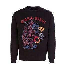 Black Embroidered Seadragon Sweatshirt