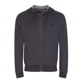 Grey Tech Hooded Zip-Through
