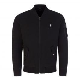 Black Tec Bomber Zip-Through Sweatshirt