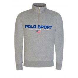 Grey Fleece 1/4-Zip Sweatshirt