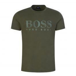 Green Beachwear Relaxed-Fit UPF 50+ Cotton T-Shirt