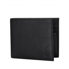 Black Leather Billfold Wallet