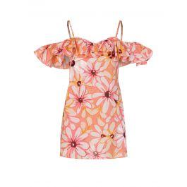 Pink Linen Maelle Short Dress