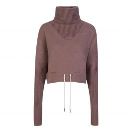Brown Britannia Knitted Sweatshirt