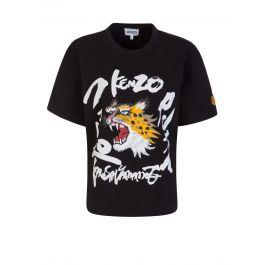 x Kansai Yamamoto Black Cheetah T-Shirt