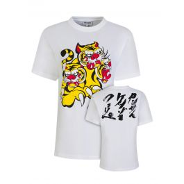 x Kansai Yamamoto White Loose-Fit 'Three Tigers' T-Shirt