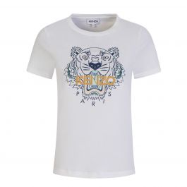 Pure White Classic Tiger Print T-Shirt