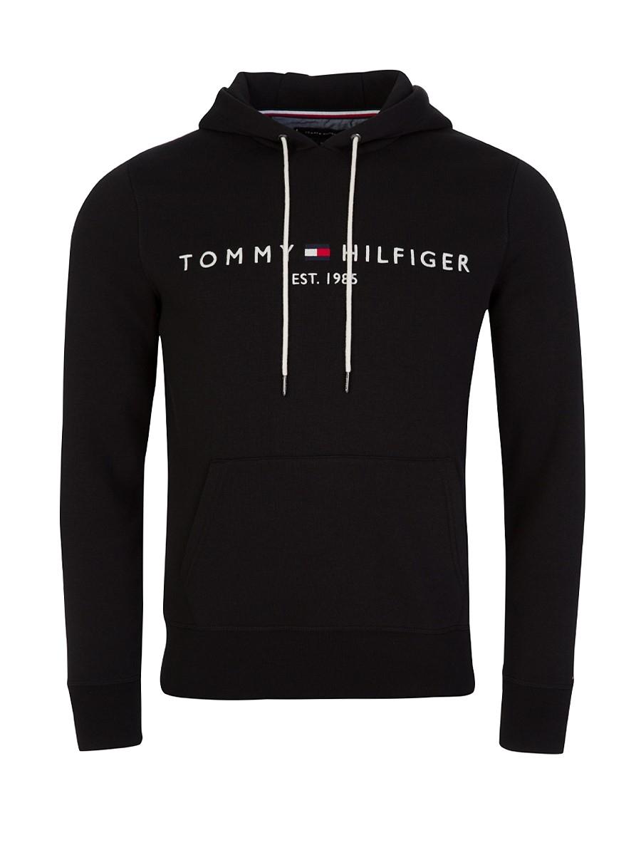 Tommy Hilfiger Black Core Logo Hoodie - Size L